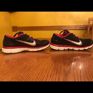 Black and Hot Pink Nike's